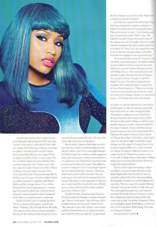 Nicki Minaj January 2011 Xxl Magazine Spread Atlnightspots