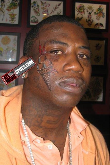 Gucci Mane Ice Cream Cone Face Tattoo : Burrr-Sheit or Im ...