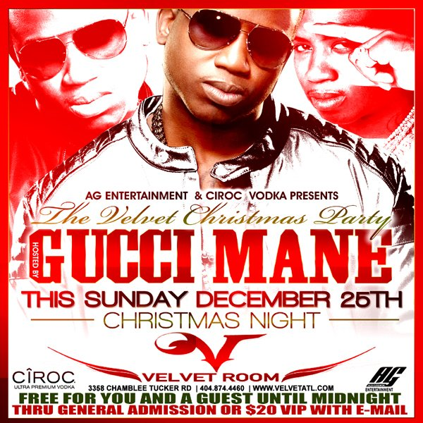 Gucci Mane Hosting Christmas Night At Velvet Room Night