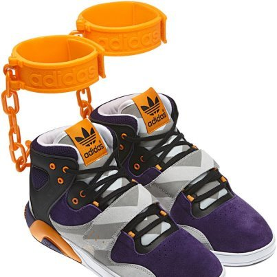 Adidas Slave Shoes with Shackles
