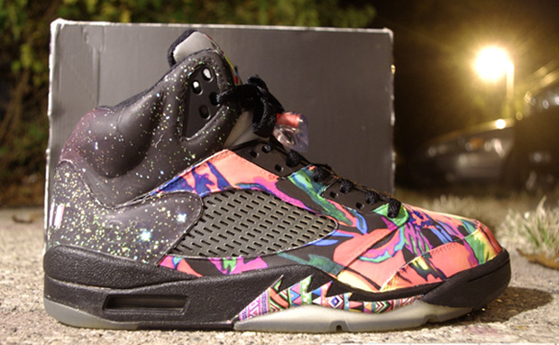 "32e40c504ba1 ... Air Jordan 5 ""Fresh Prince"" Custom ..."