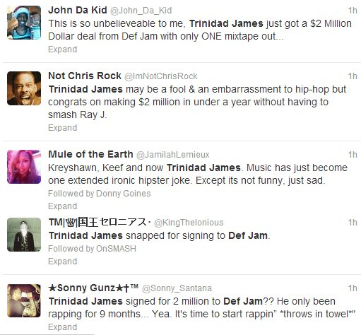 > Trinidad James Reportedly Signs To Def Jam For $2 Million, Twitter Replies - Photo posted in The Hip-Hop Spot | Sign in and leave a comment below!