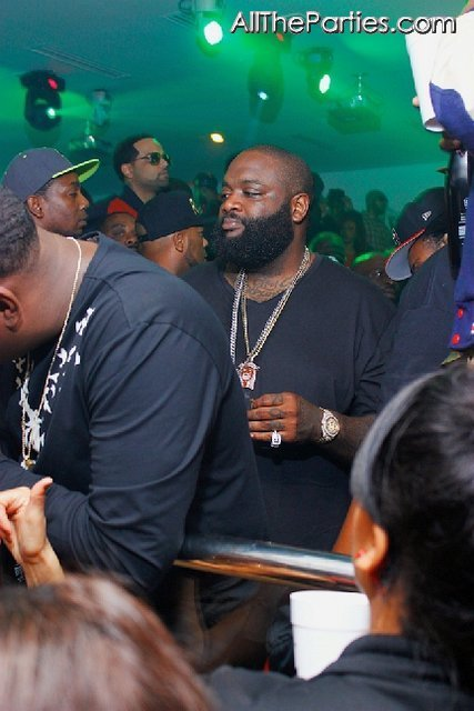 Rick Ross & Terrance J Partying In Compound Saturday
