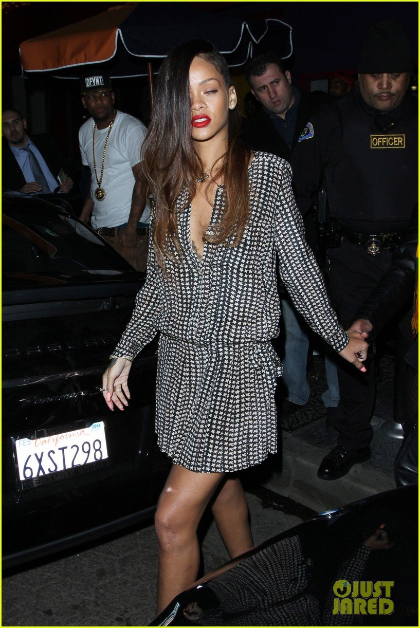 Rihanna enjoys a night out with a friend at My Studio nightclub