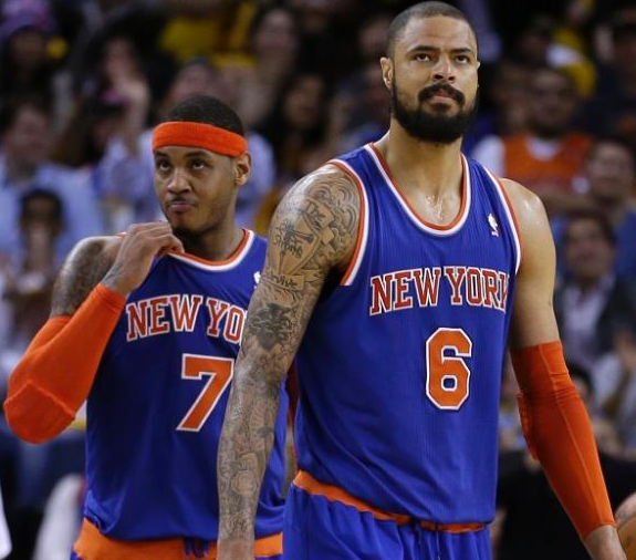 Tyson Chandler & Melo Leave Nuggets Game Early Due To