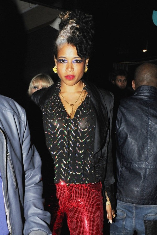Kelis the singer seen leaving Whiskey Mist nightclub with her female friend in London