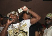 Boxer adrien broner throws thusansands of Hundreds In cream Lounge