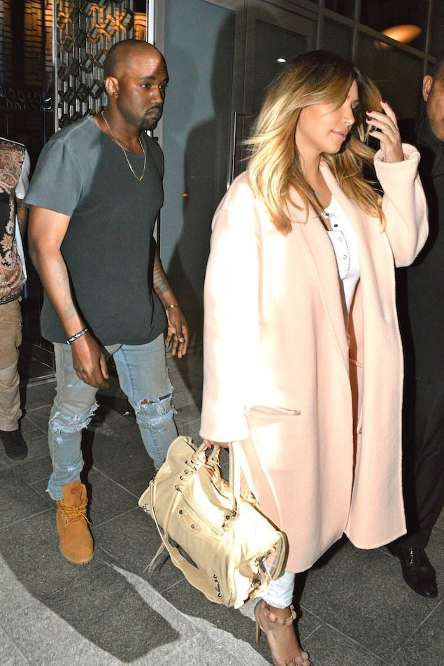Kim Kardashian and Kanye West dine at Hakkasan with Tyga and Black Chyna