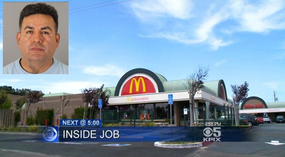 Armed McDonald's Manager Holds Up His Own Restaurant ...