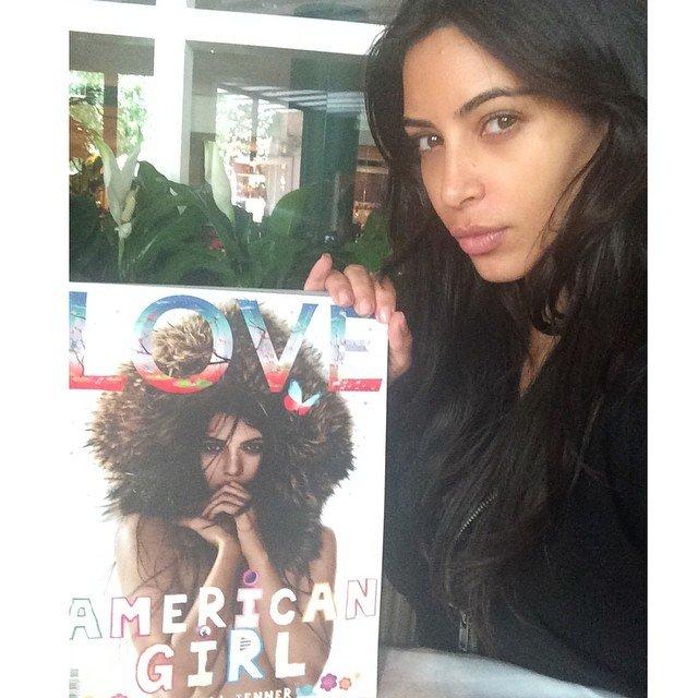 Kim Kardashian West No Makeup Selfie - Atlnightspots
