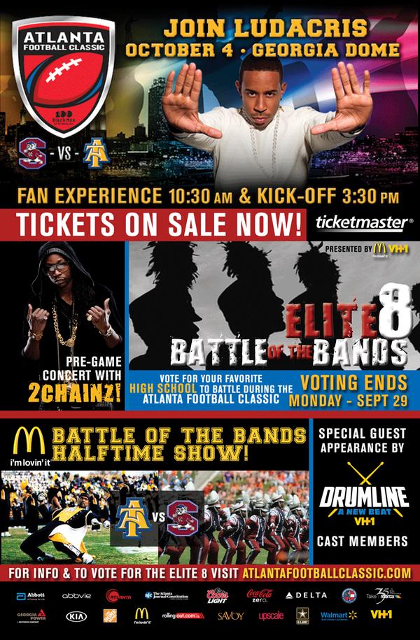 Atlanta rapper ludacris and 2 chainz will set the tone for the atlanta