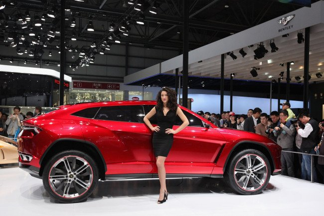 BEIJING, CHINA - APRIL 25:  The Lamborghini SpA Urus sport-utility concept vehicle is seen during the 2012 Beijing International Automotive Exhibition at China International Exhibition Center on April 25, 2012 in Beijing, China. More than 2,000 automotive enterprises from 14 countries and regions participated in the 2012 Beijing International Automotive Exhibition from April 23 to May 2.  (Photo by Feng Li/Getty Images)