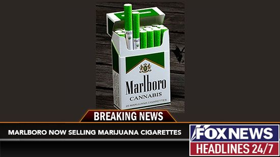Marlboro Now Selling Weed Cigarettes