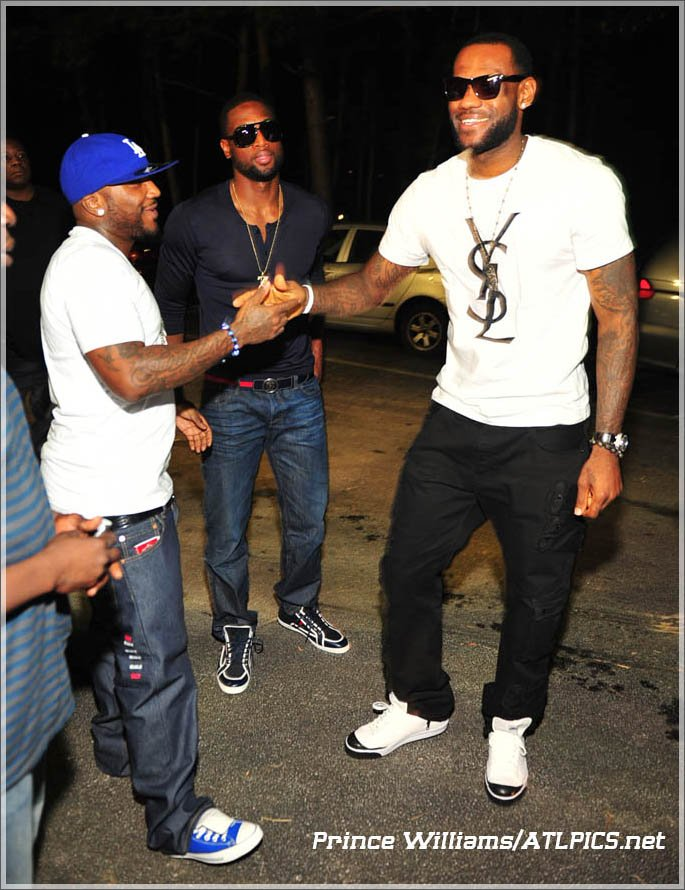 Young Jeezy Lebron James Amp Dwyane Wade At The Velvet Room