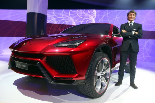 MUNICH, GERMANY - MARCH 11:  Stephan Winkelmann, CEO of Lamborghini Automobili S.p.A., poses next to a Lamborghini Urus during a Audi group reception on March 11, 2013 in Munich, Germany.  (Photo by Alexander Hassenstein/Getty Images)