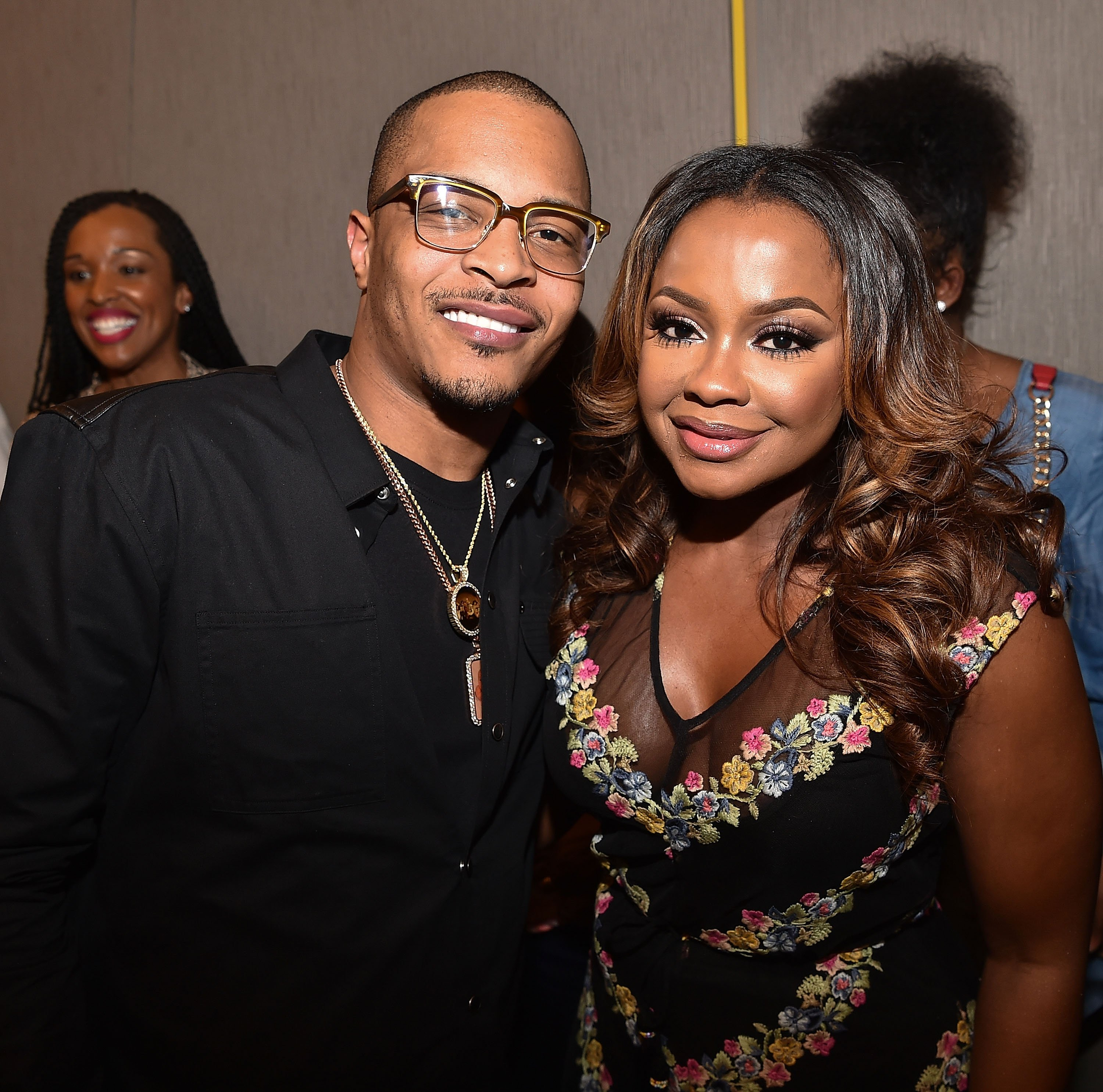 """""""ATLANTA, GA - MAY 09: Tip """"T.I."""" Harris and Phaedra Parks attend HISTORY's """"Roots"""" Atlanta advanced screening at National Center for Civil and Human Rights on May 9, 2016 in Atlanta, Georgia. (Photo by Paras Griffin/Getty Images for History/Roots)"""""""